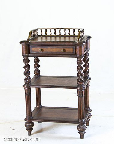 John Richard Collection  One Drawer Gallery Table with Two Shelves