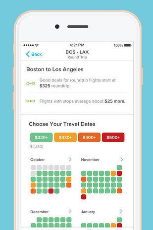 Hopper (free iOS, Android) will save you serious money by