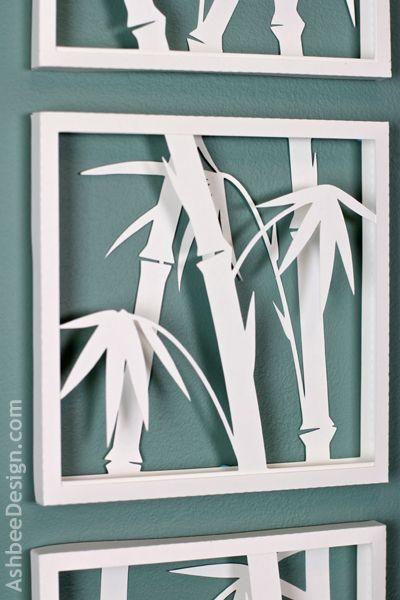 Ashbee Design Zen Art With Bamboo Silhouettes  E  A Diy