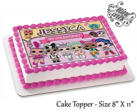 Lol Surprise Dolls Birthday Cake Topper Lol Surprise Dolls Image