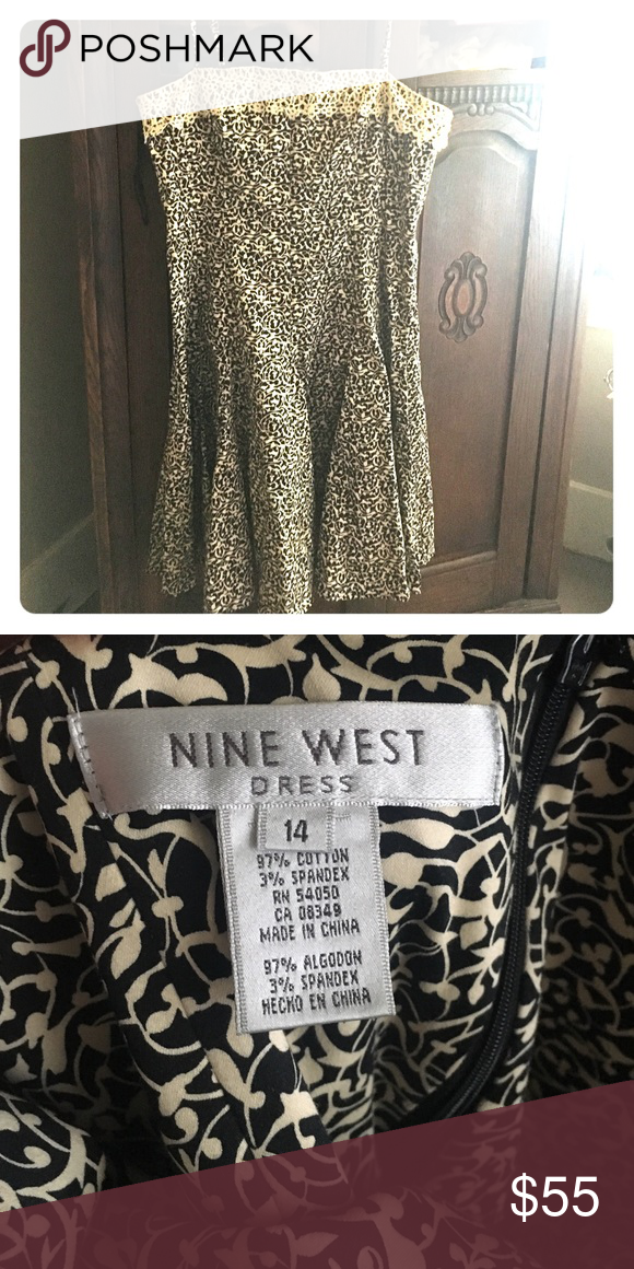 Nine West formal dress Size 14 nice formal dress worn only a couple times for special events. Can be worn strapless Nine West Dresses Midi