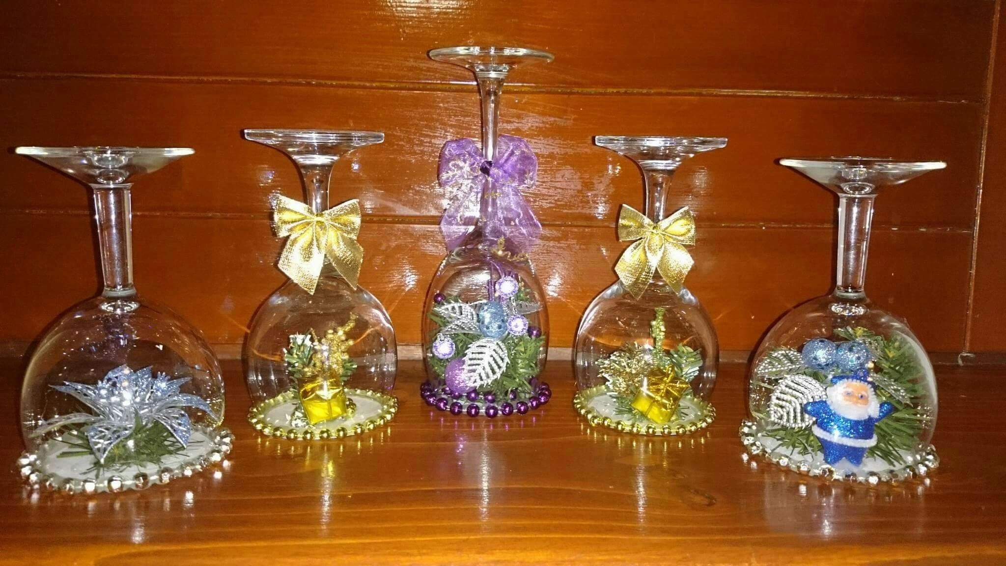 vianočné dekoračné poháre