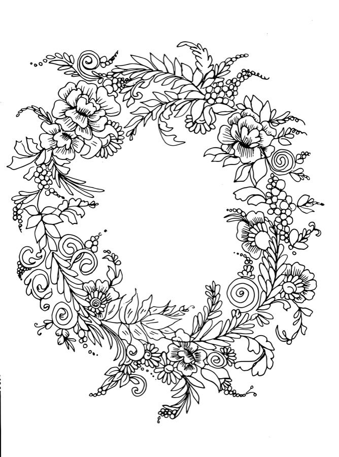 Floral Wreath Tattoo Design Flower Vectors To Download