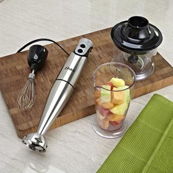 Oster Whip Immersion Blender W/Chopper 200 Watt Brushed Stainless Steel | Kitchen Stuff Plus