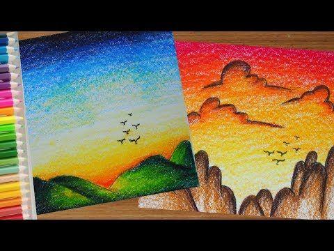 ระบายส ท องฟ า สวยๆ ส ไม How To Draw Beautiful Sky Youtube ภาพวาด สก อต