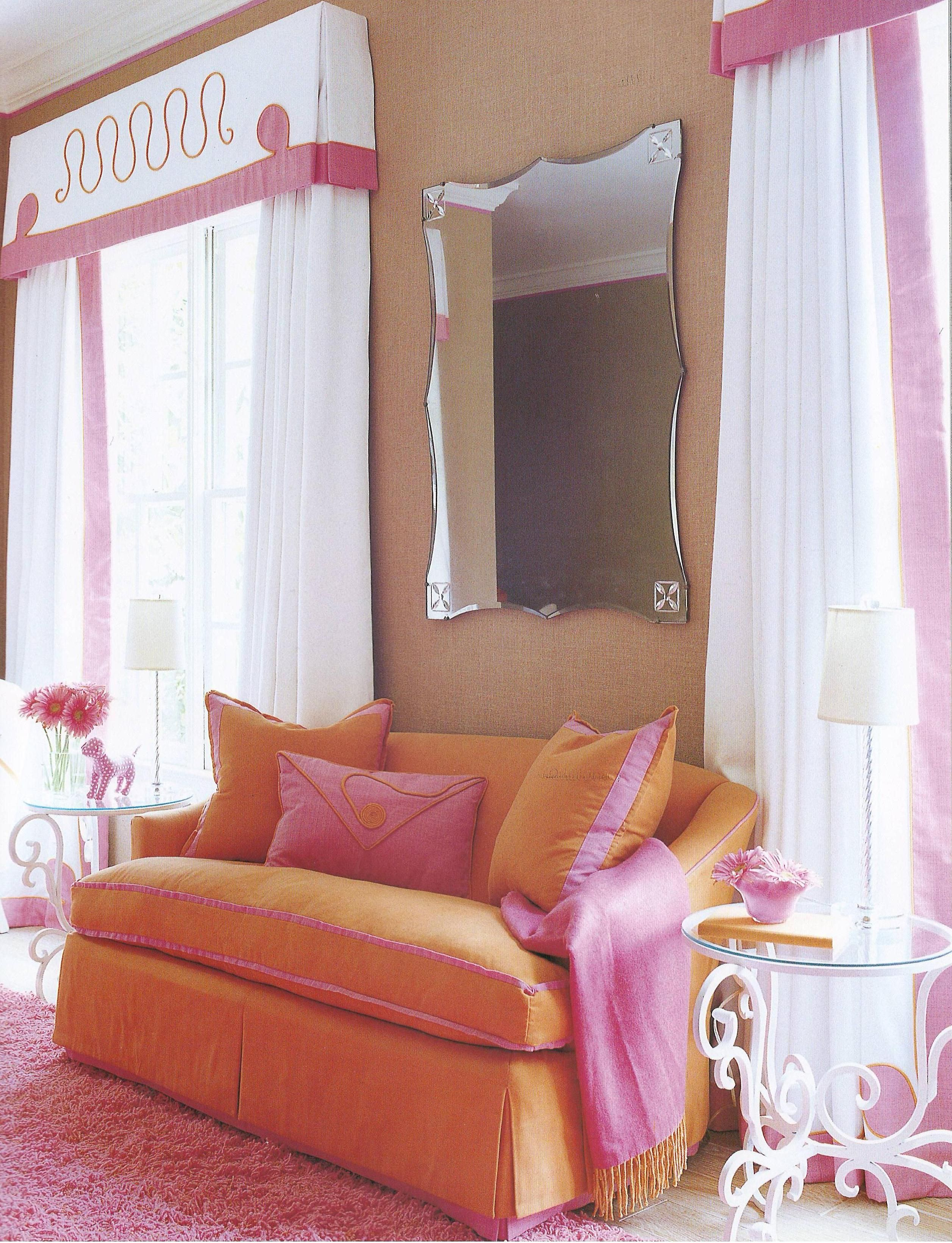 Suzanne kasler combines pink and orange for a surprisingly serene interior