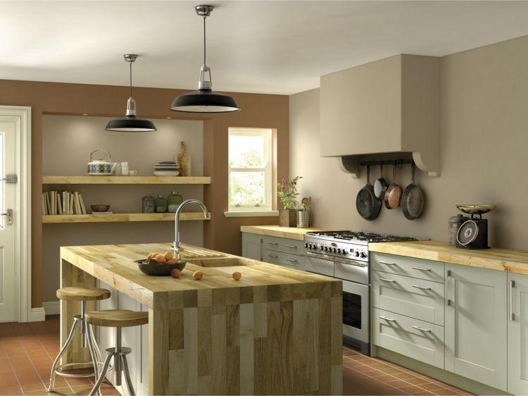 Farbe für Küche \u2013 Küchenwand in Kontrastfarbe streichen Küche 2019