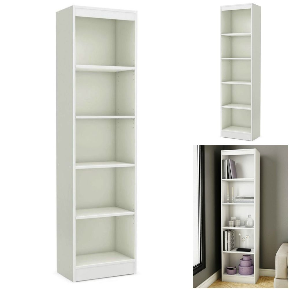 Wood Bookcase 10 Tier Bookshelf Storage Shelf Home Office Living
