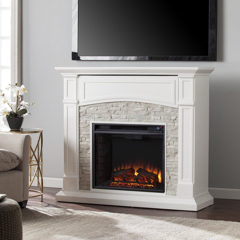 Boyer Electric Fireplace In 2020 White Electric Fireplace