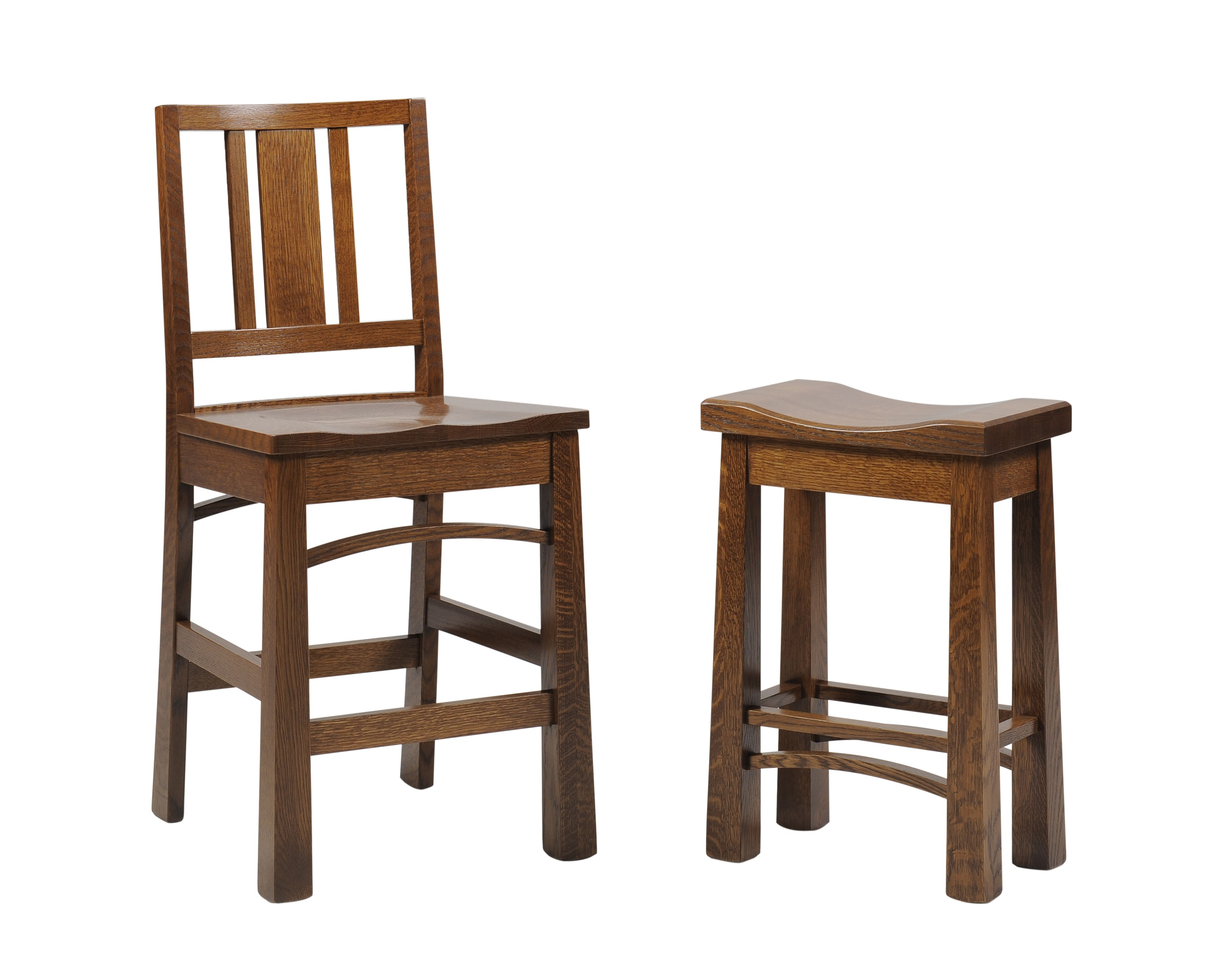 Bradford Mission Barstool Saddle Stool Bar Stools Craftsman Dining Chairs Stool