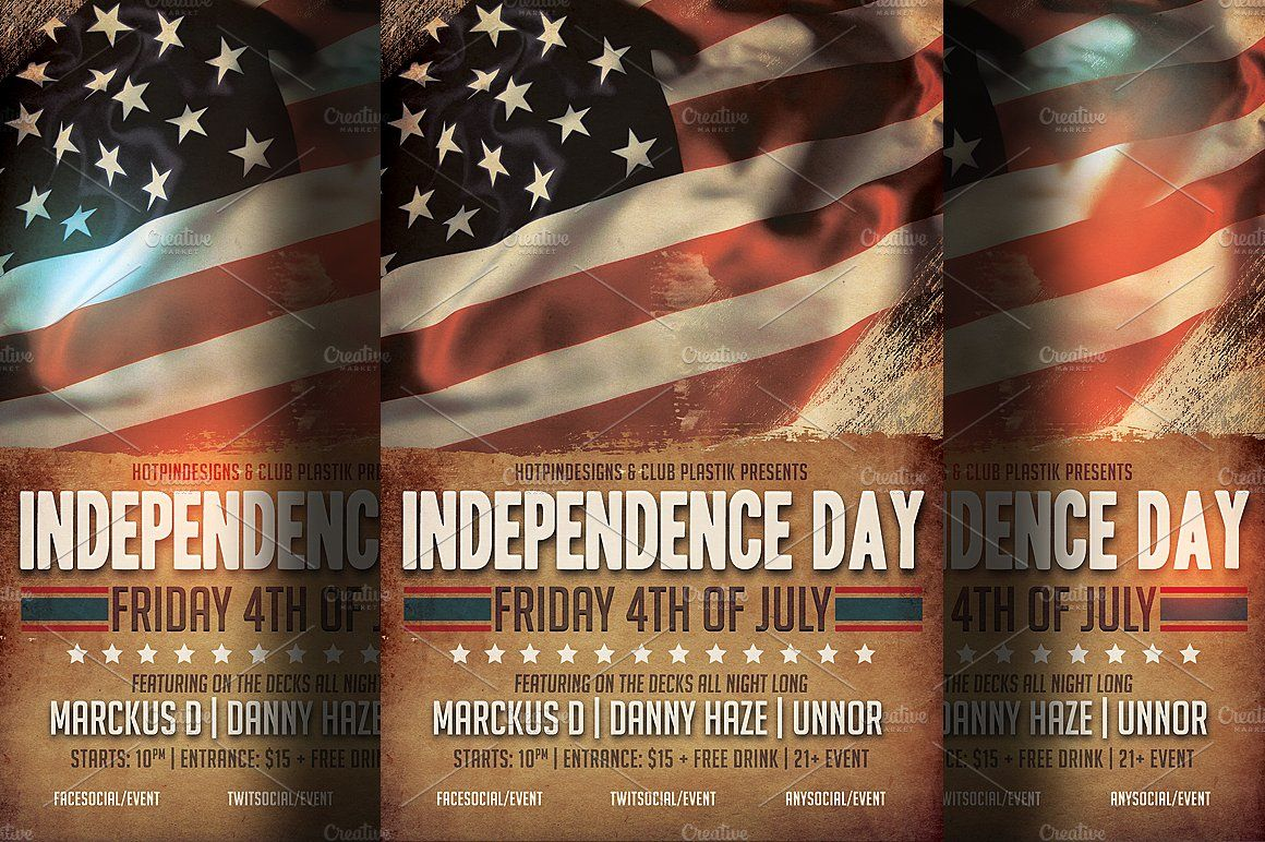 independence day flyer template memorialdayeventupcoming