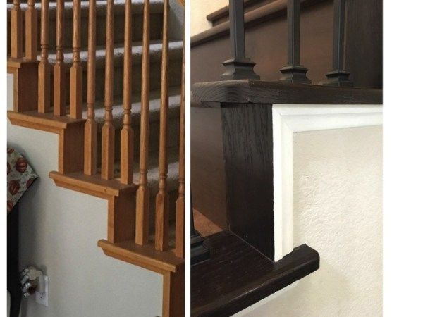 How to Gel Stain an Oak Banister - The Lady DIY in 2020 ...