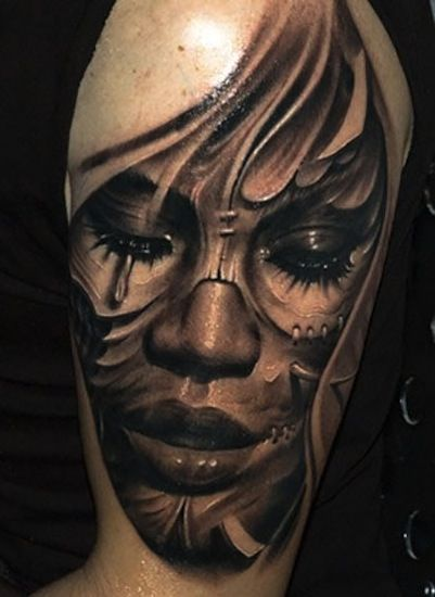 Crying Face By Victor Portugal Krakow Poland 3d Tattoos