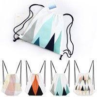 Rope Canvas Backbag Fresh Cloth Bag Good for Travelling Beam String Bag for Students