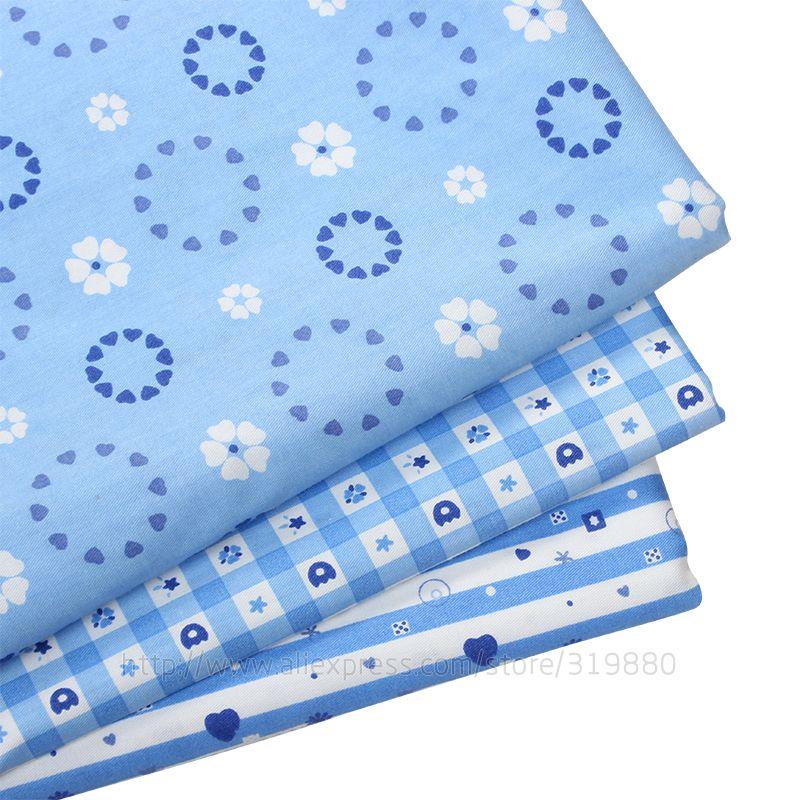 TIANXINYUE Голубой Любви 3 шт. Хлопчатобумажная Ткань DIY Лоскутная Швейные цветок ткань подушки и подушки farbic Текстиль Ткань 40*50 см