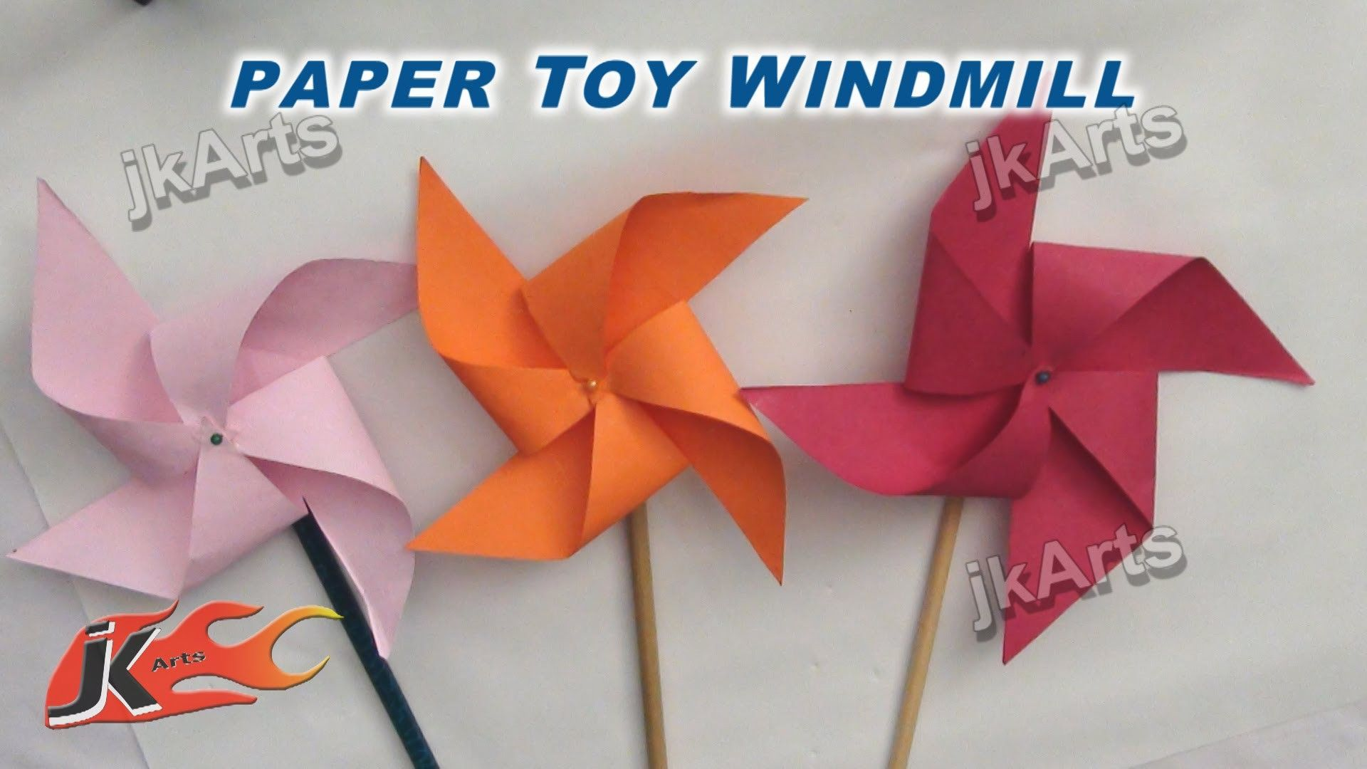 DIY How To Make Paper Toy Windmill Easy Craft For Kids