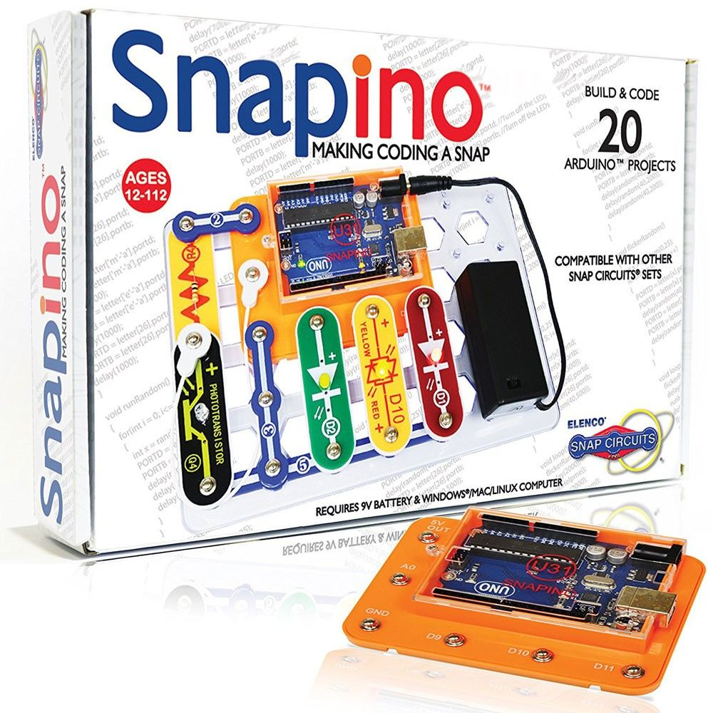 Snap Circuits Snapino Coding Electronic Projects Kit Learn Learning About Making A And Having Fun With Thats What This Cool Set Adds To The