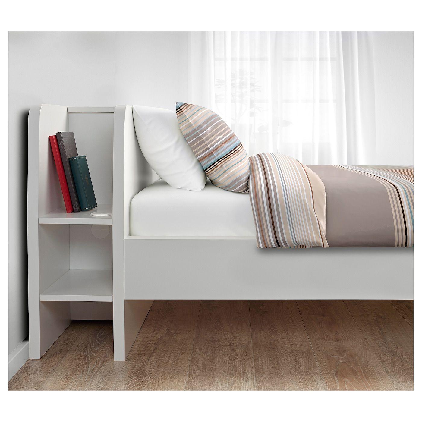 Askvoll Bettgestell Mit Kopfteil Und Aufb Weiss Ikea Deutschland Bettgestell Zimmer Einrichten Jugendzimmer Ikea