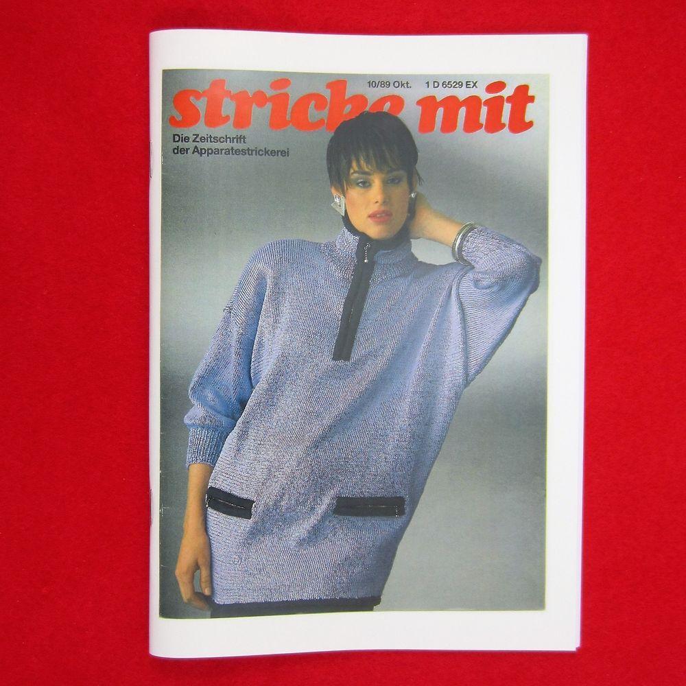 stricke mit 10//89 Nachdruck Zeitschrift Apparatestrickerei Tips Strickmaschine