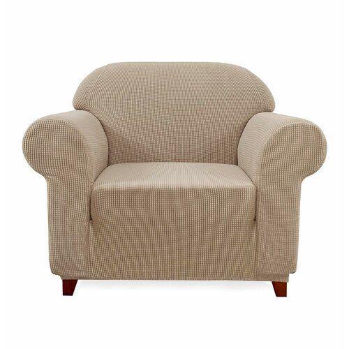 Plaid Spandex Stretch Stoffbox Kissen Sessel Schonbezug Rosalind