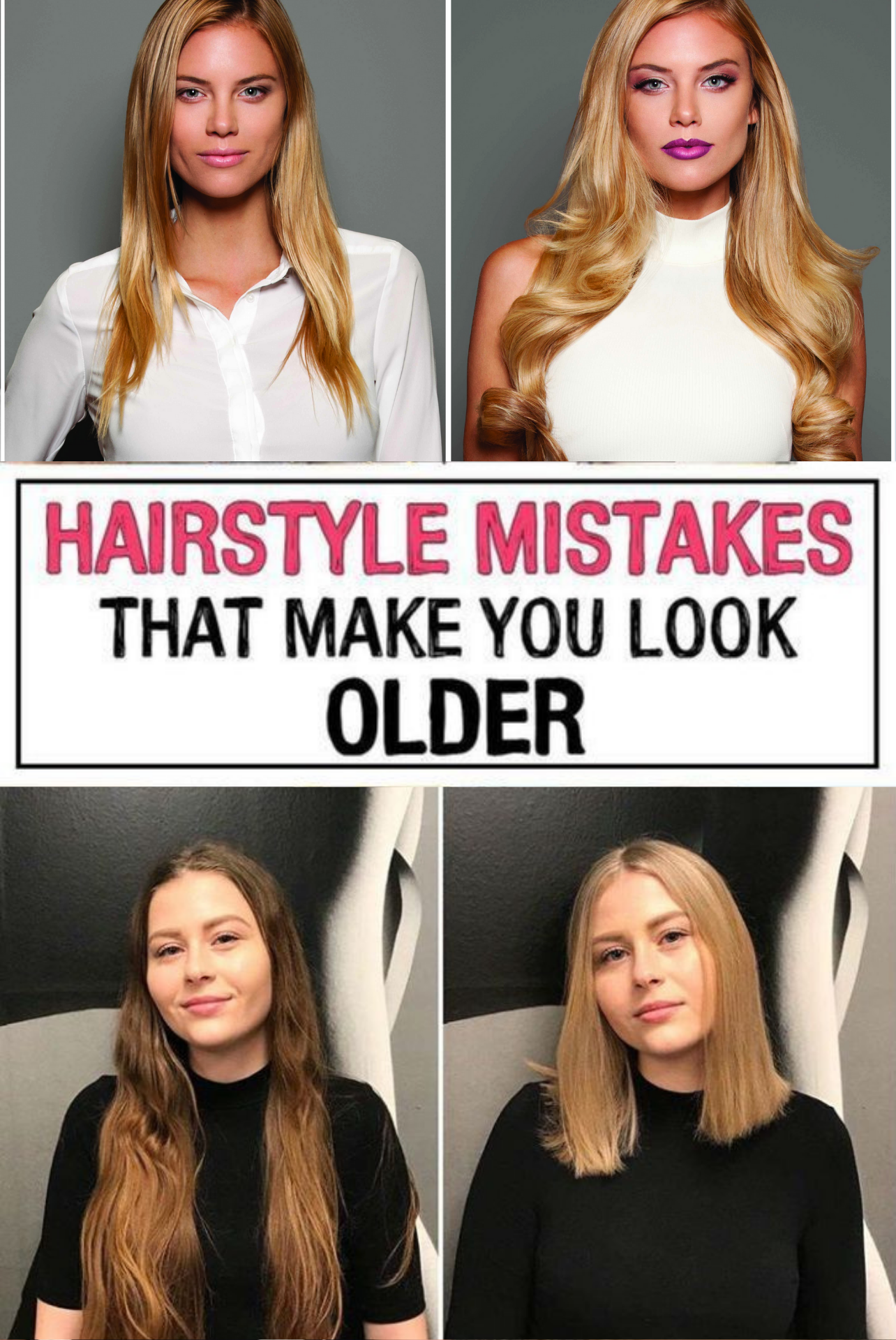 17 Hairstyle Mistakes That Are Aging You In 2020 Hair Advice Hair Mistakes Hairstyle