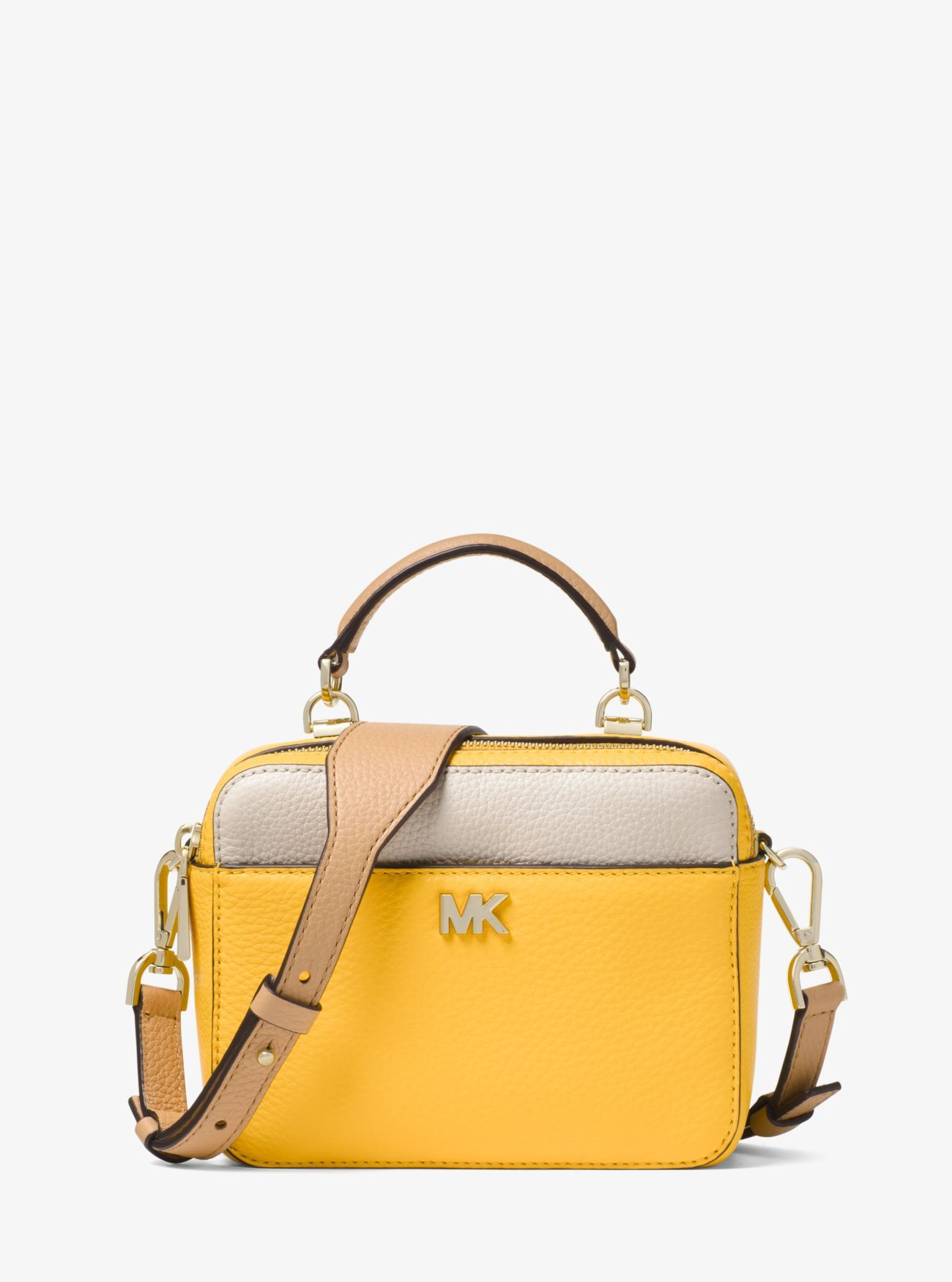 85afabf1d3c1f8 Mott Mini Color-Block Pebbled Leather Crossbody | wishlist | Michael ...