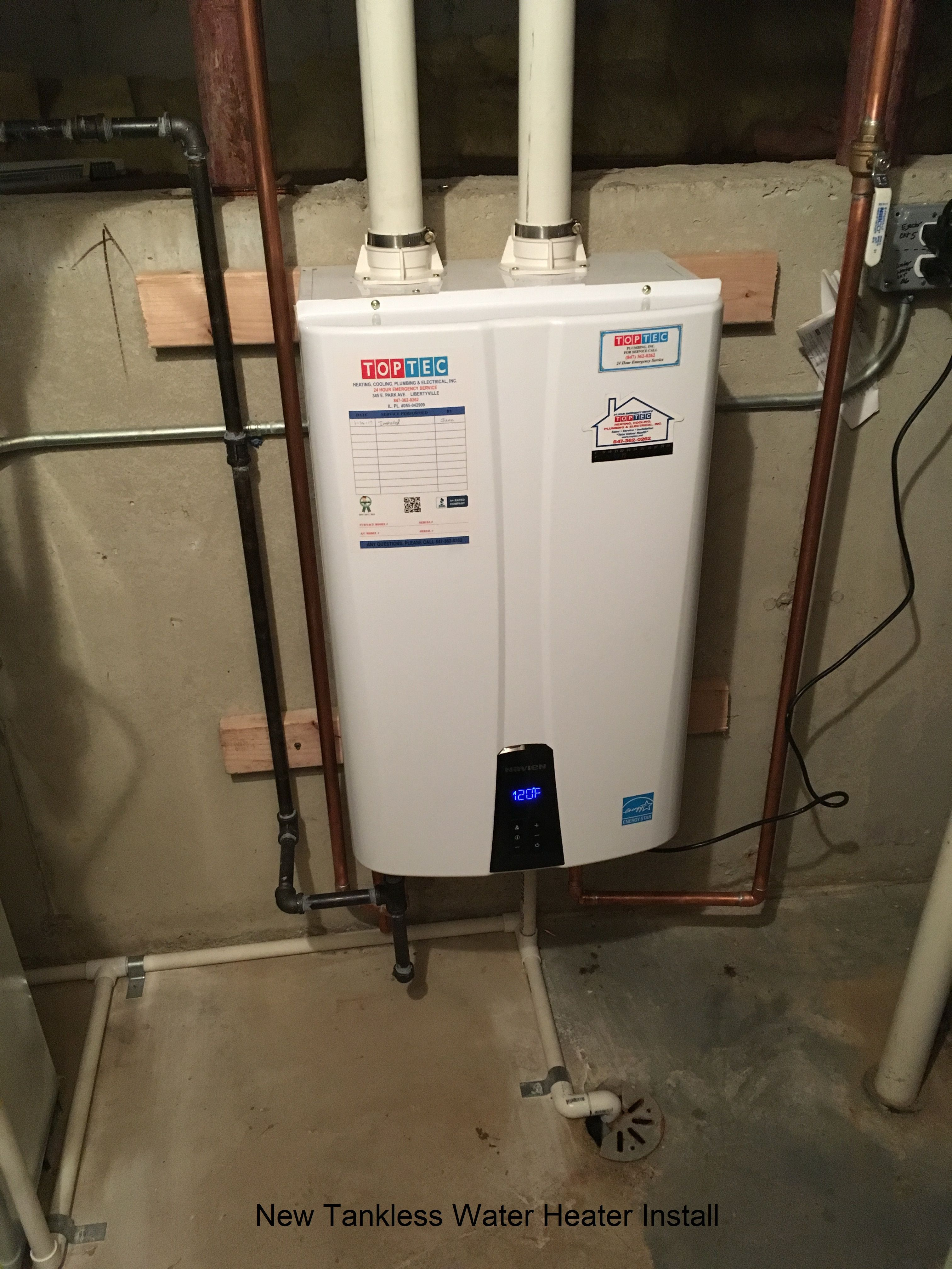 New Tankless Water Heater S From Toptec Call Us For More Info