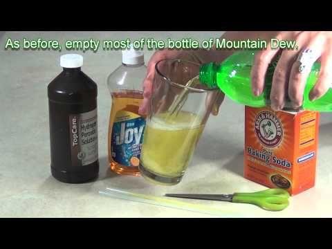 B A Ebdc B Be D A on Mountain Dew Glow Bottle