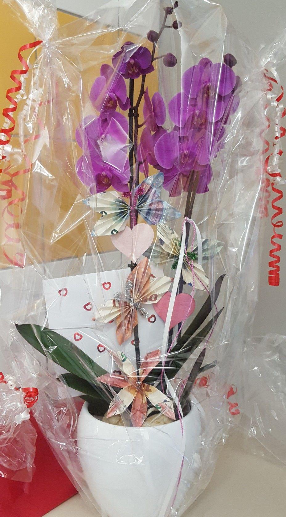Geldgeschenk Mit Orchidee Geldgeschenke Blumen Hochzeit Geschenk Geld Geldgeschenke