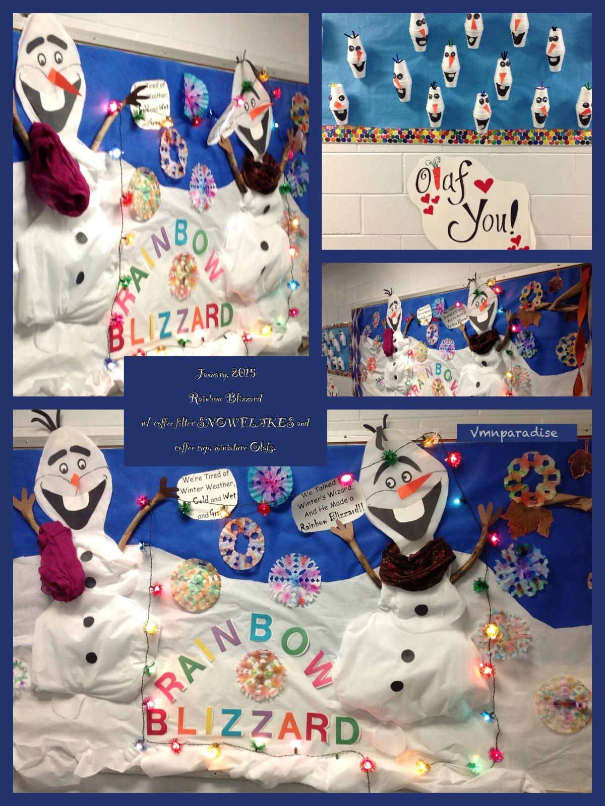 "My ""Rainbow Blizzard"" bulletin board (With images) Work"
