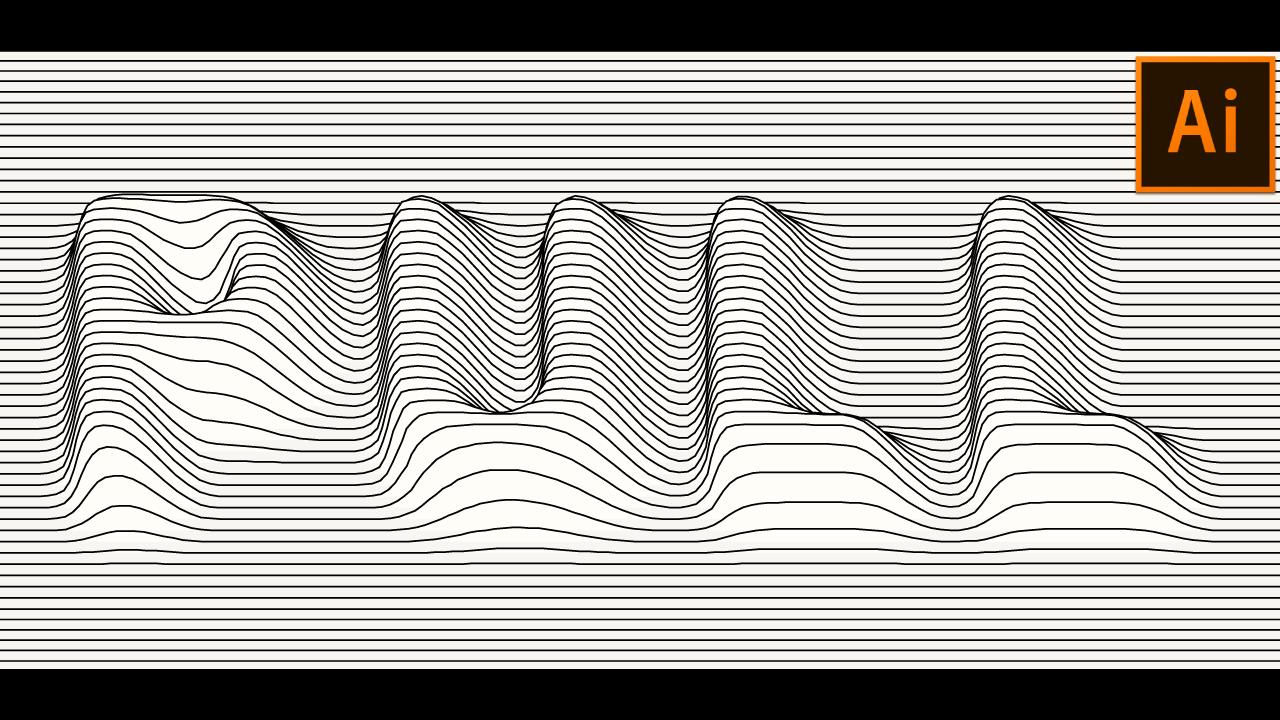 Vector Lines Distortion Effect In Adobe Illustrator Adobe Illustrator Design Adobe Illustrator Vector Illustrator Typography