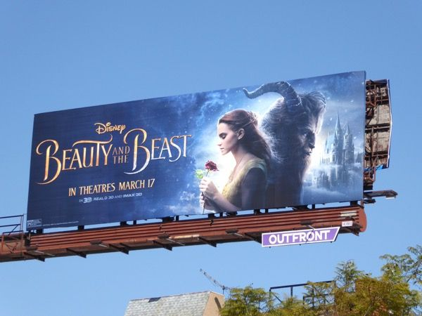 Disney Beauty And The Beast Movie Billboard Beauty The