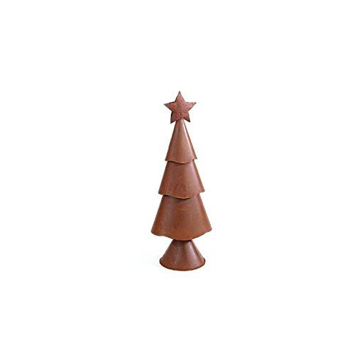 Small Rusty ThreeTier Christmas Tree Set Of 2 ** You can get more