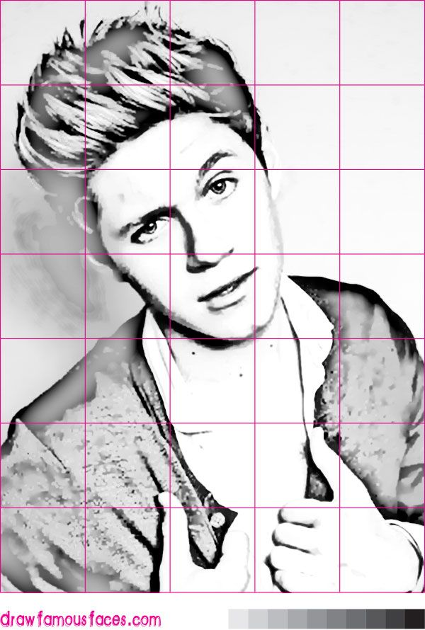 how to draw a celebrity using a grid