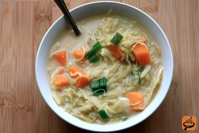 Asian Coconut Cabbage Soup recipe