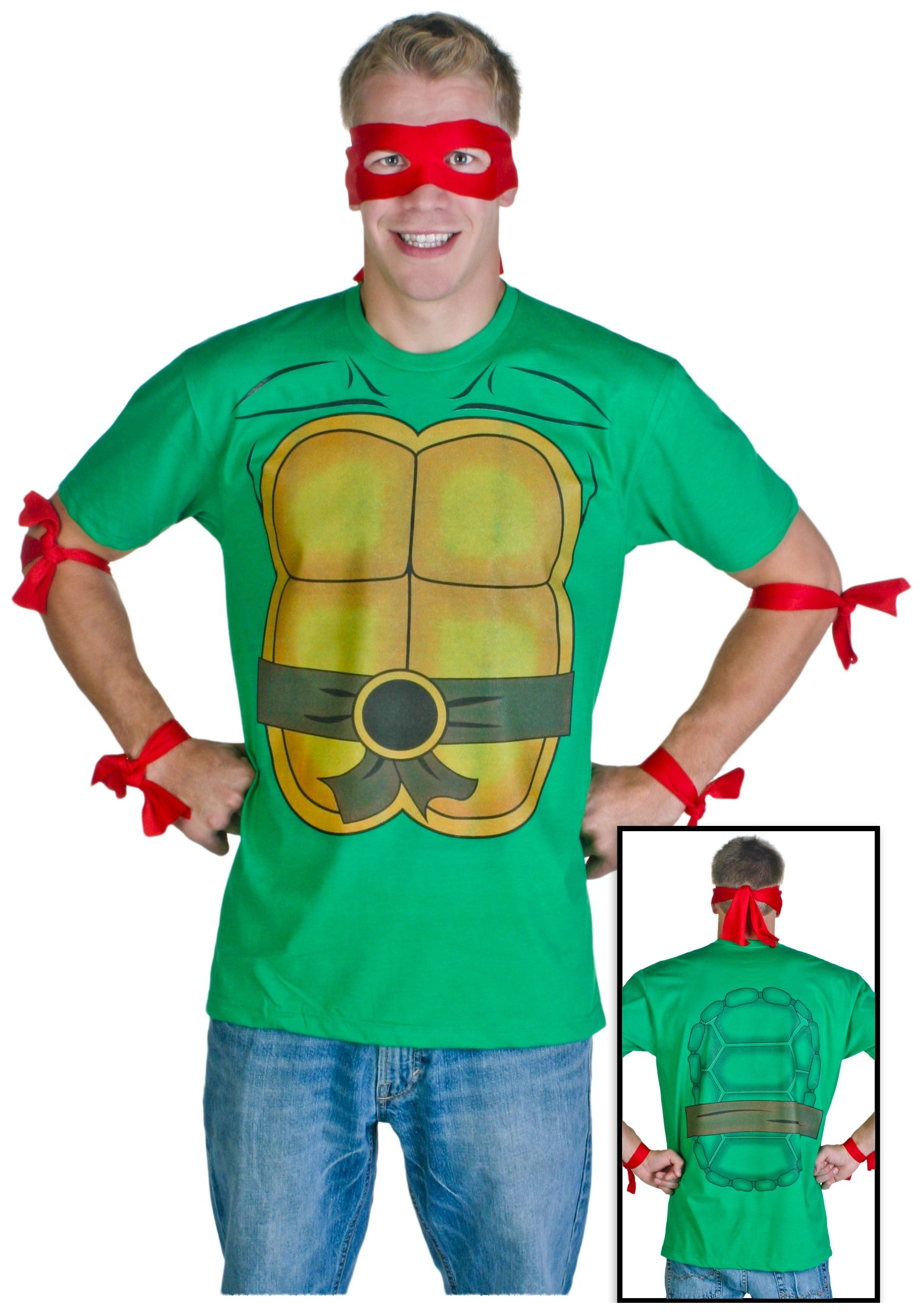 Mens ninja turtle t shirt halloween pinterest ninja turtles easy ninja turtle for the husbands costume solutioingenieria Image collections