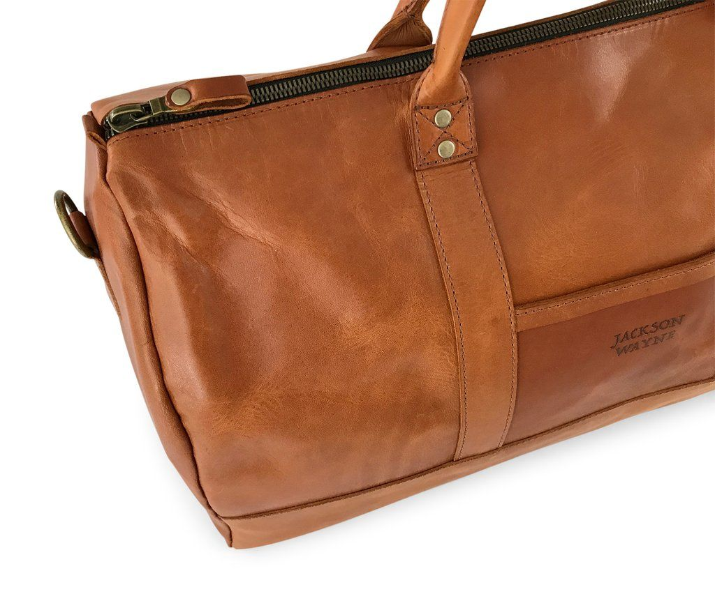 678ed2f28586 saddle tan full grain vegetable tanned leather duffle bag edge ...