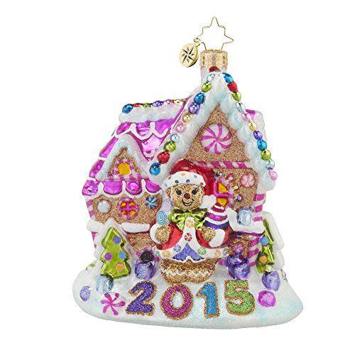 "Christopher Radko 2015 Gingerbread Candy Shack Glass Christmas Ornament - 5""h.. #Christmas #NewYear #Ornament #Decor #giftidea #Gift #gosstudio .★ We recommend Gift Shop: http://www.zazzle.com/vintagestylestudio ★"
