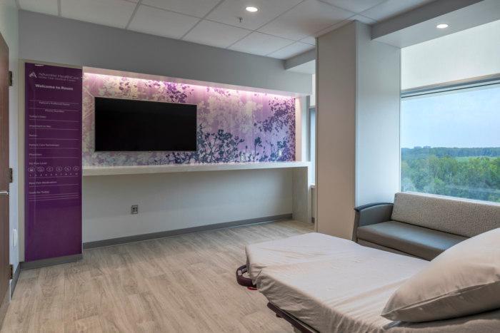 Washington Adventist White Oak Medical Center Healthcare Snapshots Hospital Design White Oak Patient Room