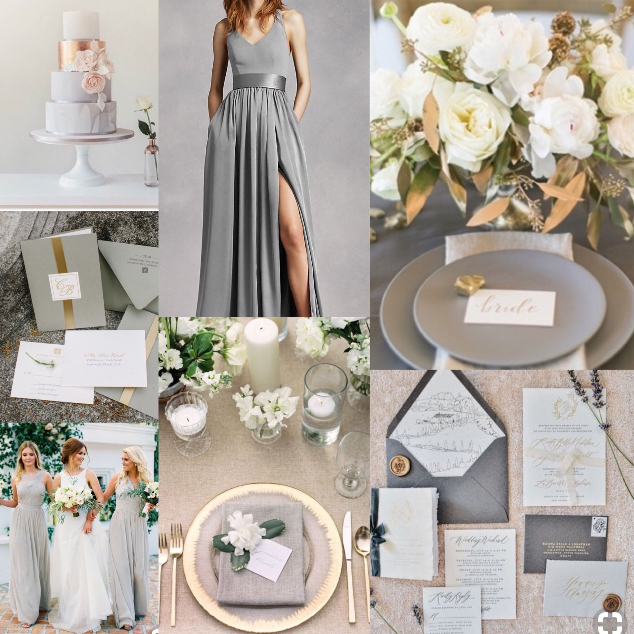 Gray White And Green Bedroom: Wedding Inspiration, Wedding Color Palette, Gray And Gold