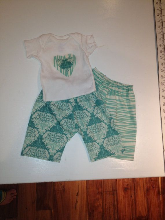 Newborn outfit  Two Pants and Applique Shirt Set  by Specraftular, $20.00