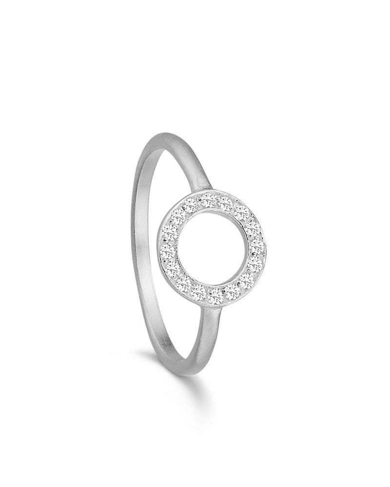de42f52d7654 Sølv ring m cirkel og funklende sten - k-z.dk