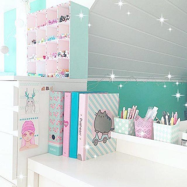 Ultimate Desk Goals Regram Via Annimint Pusheen Kawaii Bedroom Kawaii Room