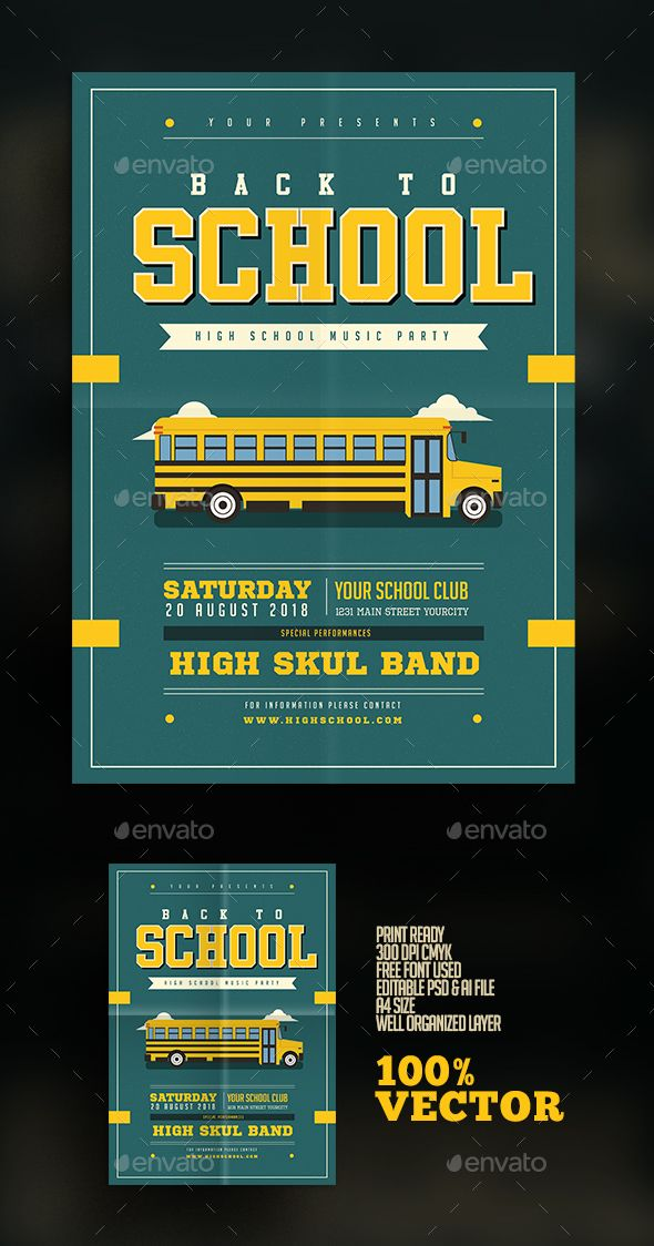 Back To School Flyer  Psd Templates Template And Flyer Template