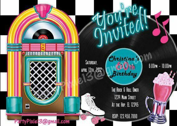 Rockabilly Invite Einladungskarten Geburtstag Einladungskarten