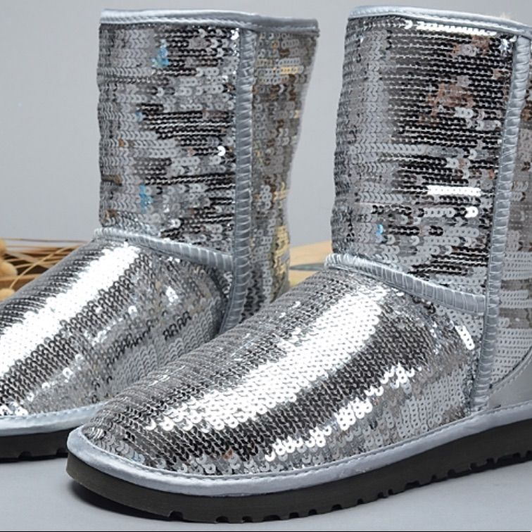 Silver glitter ugg boots | Ugg boots