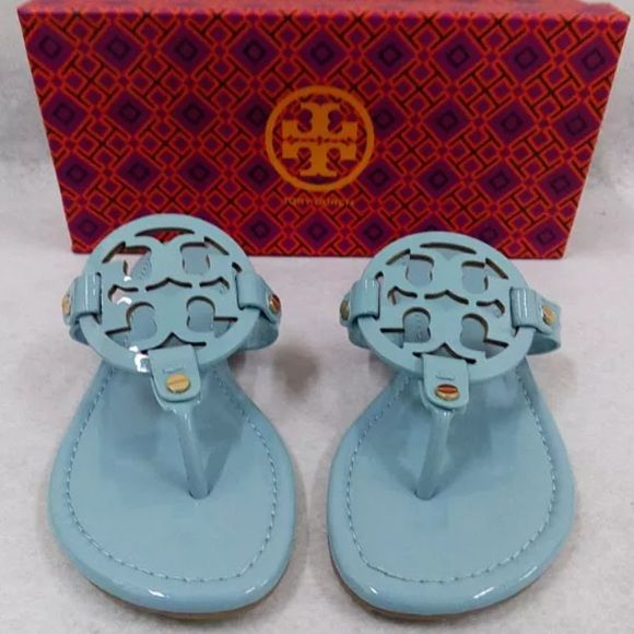 Tory burch light blue miller sandals 7.5