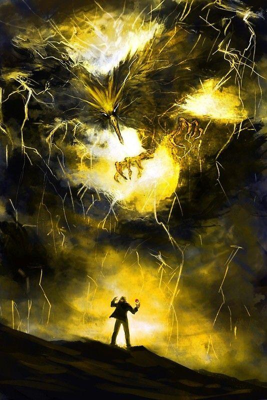 The Second Bird – Lightning Art Print by EmoryArt