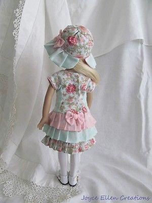 """13"""" Effner Little Darling BJD fashion pink & mint ruffles OOAK handmade by…"""