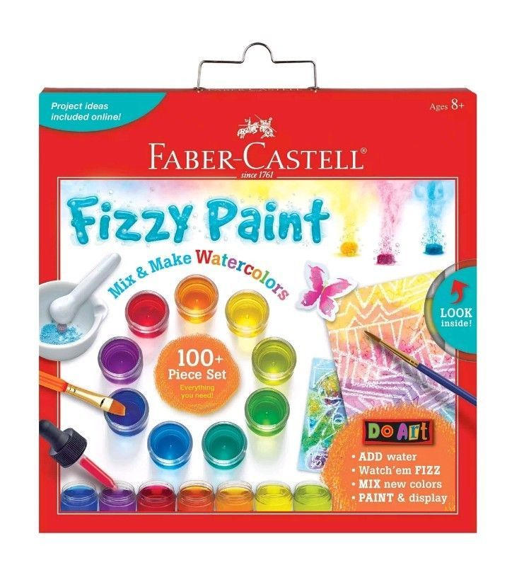 fabercastell do art fizzy paint mix and make watercolor